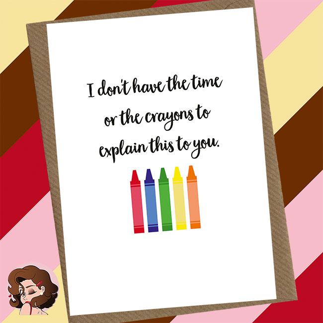 Crayons Greetings Card
