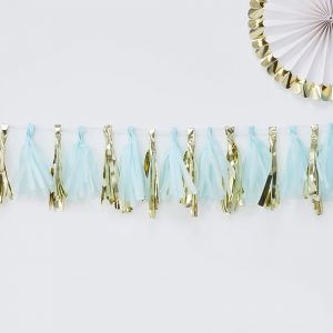 Blue and Gold Tassel Garland