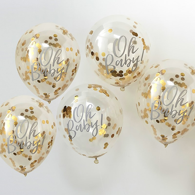 Oh Baby Baby Shower Balloons
