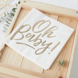 Oh Baby Baby Shower Napkins