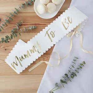 Oh Baby Mummy to Be Baby Shower Sash