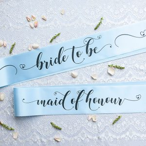 Bride to Be and Maid of Honour Sashes