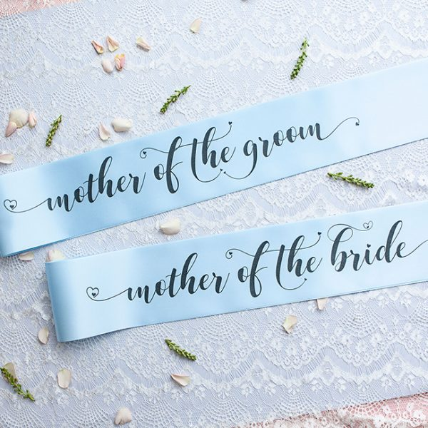 Mother of the Groom and Mother of the Bride Sashes