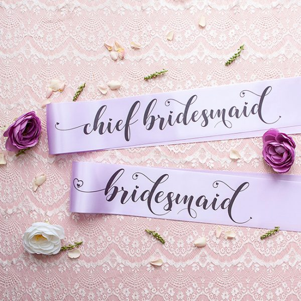 Chief Bridesmaid and Bridesmaid Sashes