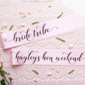 Bride Tribe Hen Night Sashes