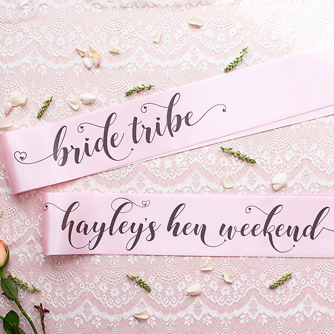 Bride Tribe Hen Night Sashes