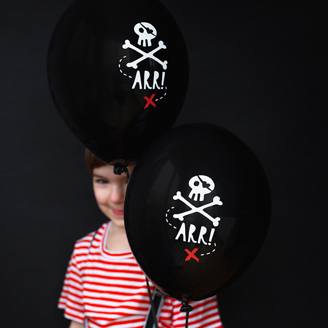 Pirate Party Black Balloons