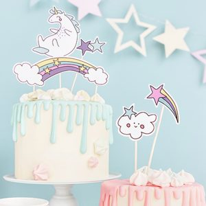 Unicorn Party Cake Topper