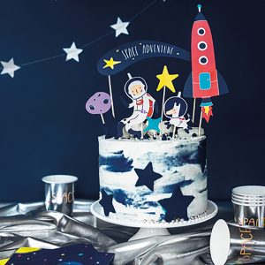 Space Party Cake Topper