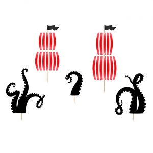 Pirate Party Cake Topper Set