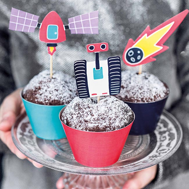 Space Party Cupcake Kit