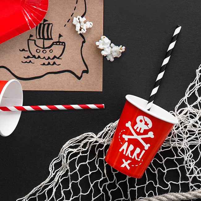 Red Pirate Party Cups