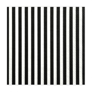 Black Striped Napkins