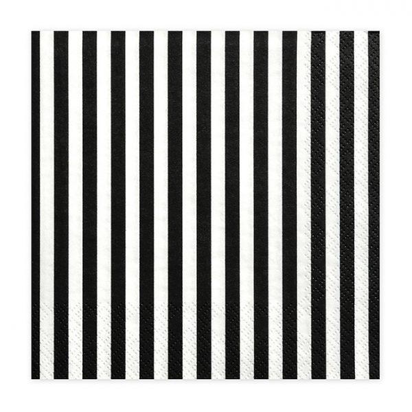 Black Striped Napkins