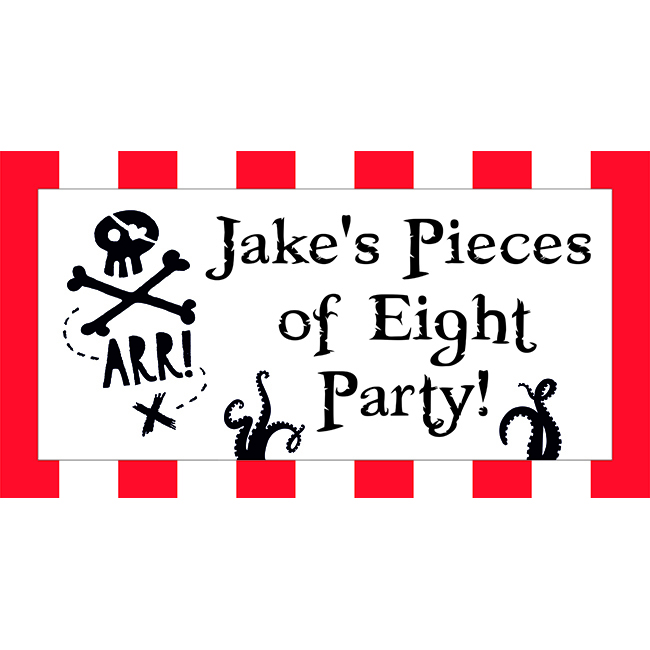 Personalised Pirate Party Banners