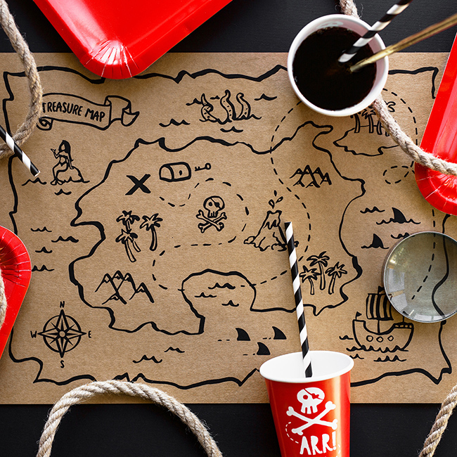 Pirate Party Placemats