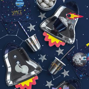 Space Party Rocket Plates