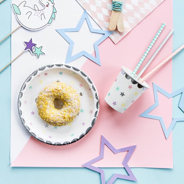 Unicorn Stars Party Plates