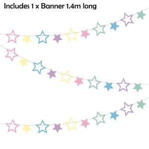 Unicorn Party Stars Garland
