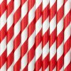 Red and White Striped Straws