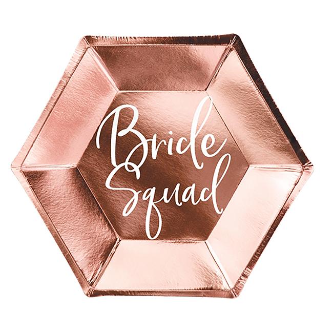 Bride Squad Plates