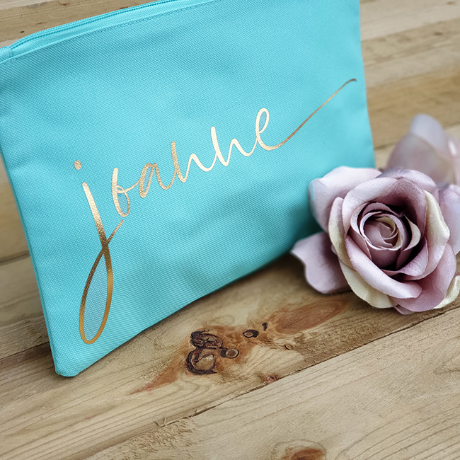 Mint Bag with Metallic Gold print