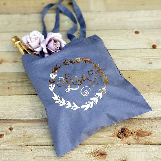 Personalised Leaf Tote Bag