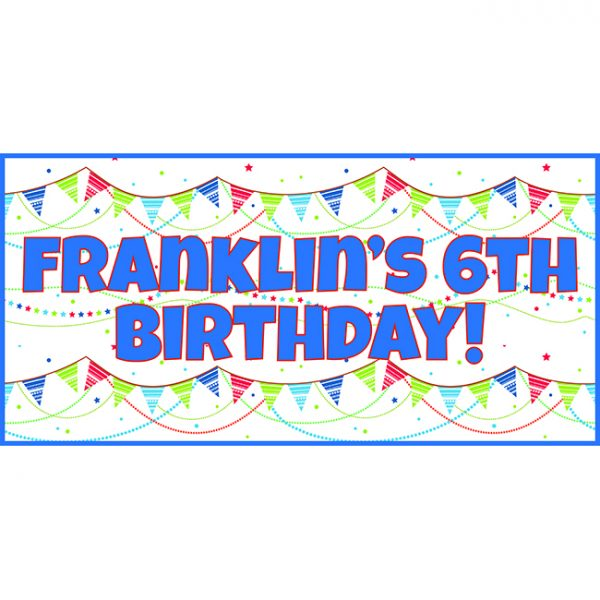 Blue Bunting Personalised Party Banners