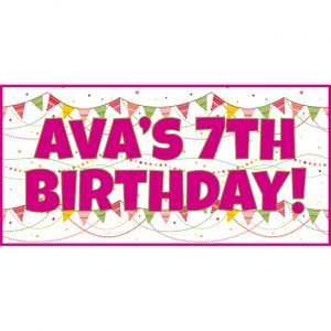 Pink Bunting Personalised Party Banners