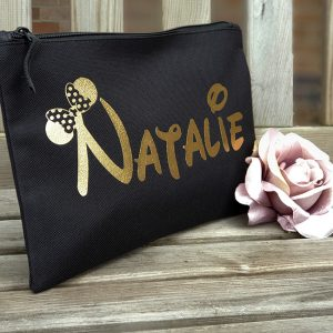 Black Disney Make Up Bag