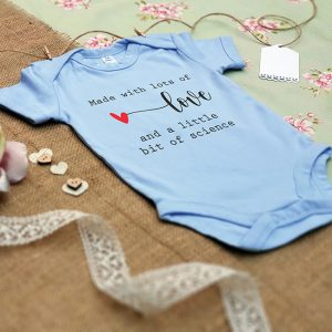 Baby Blue IVF Pregnancy Announcement Baby Grow