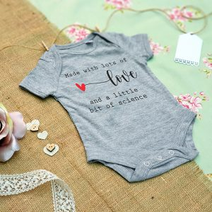 Grey IVF Pregnancy Announcement Baby Grow