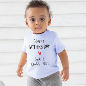 Happy Fathers Day Baby & Toddler Tshirt - Blue