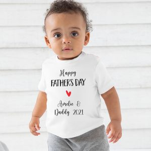 Happy Fathers Day Baby & Toddler Tshirt - White