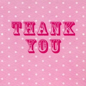 Pink Spotty Thank You Cards