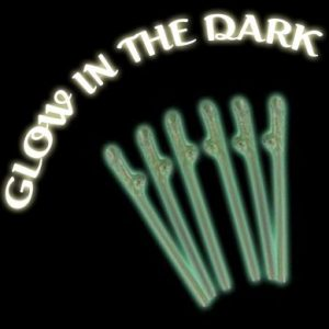 6 x Glow in the Dark Willy Straws