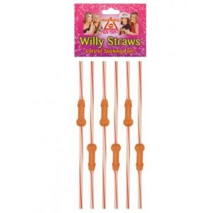 6 x Flexy Willy Straws