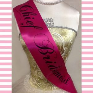 Fuchsia & Black Hen Party Sash