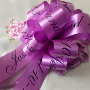 Personalised Wedding Car Ribbon Kit