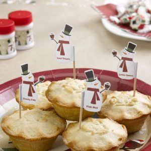 Snowman Mince Pie Picks