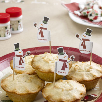 Snowman Mince Pie Picks