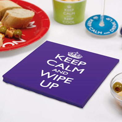 Keep Calm & Wipe Up Napkin