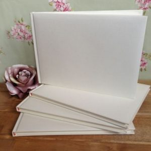Ivory Plain Wedding Guest Book