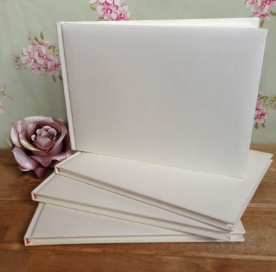 Ivory Plain Wedding Guest Book