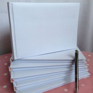 White Plain Wedding Guest Book