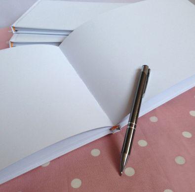 White Plain Wedding Guest Book