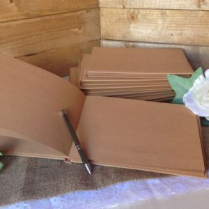 Kraft / Brown Plain Wedding Guest Book