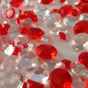 Red & Clear Table Crystals