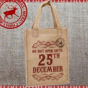 Hessian Gift Bag - 25th December