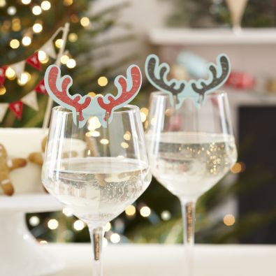 Wine Glass Decoration - Deer Antlers